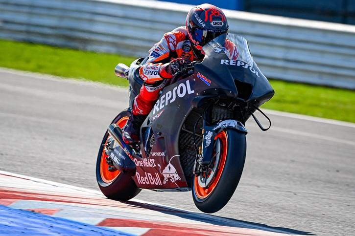 O Marc Marquez με την Honda του 2022
